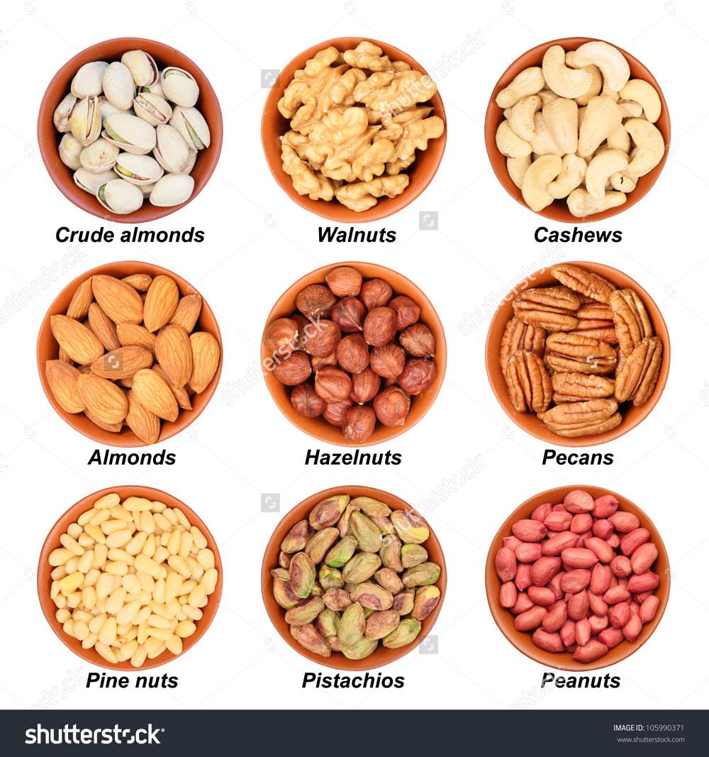 hình dạng của quả óc chó so với các loại quả và hạt phổ biến