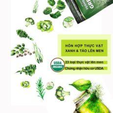 Hỗn hợp thực vật xanh và tảo lên men